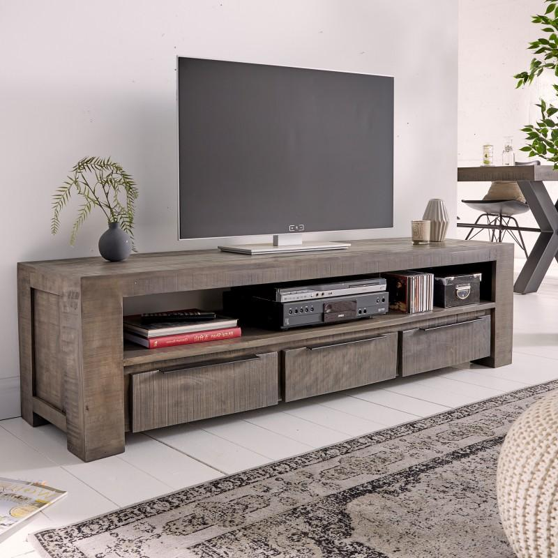 TV stolík Iron Craft 170 cm šedý Mango